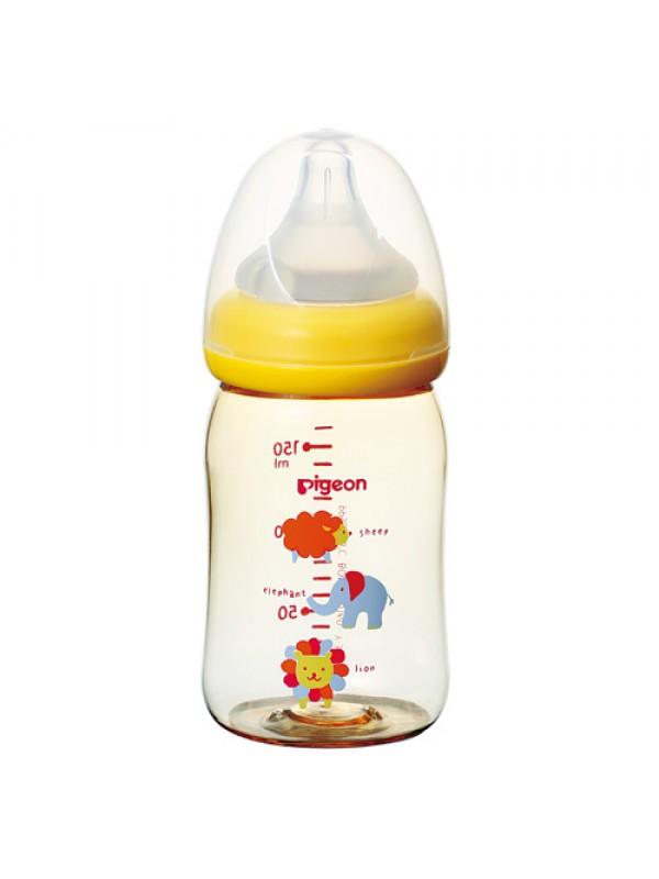 Pigeon Bottle PPSU 贝亲母乳实感宽口塑料ppsu大象奶瓶新生儿0月+ 160ml