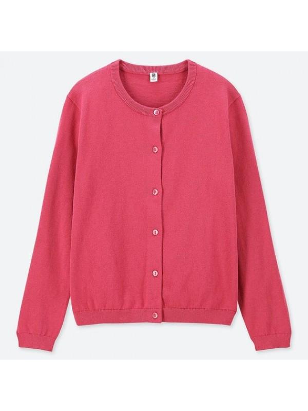 UNIQLO优衣库儿童防晒毛衣开衫红色 size110 120 130