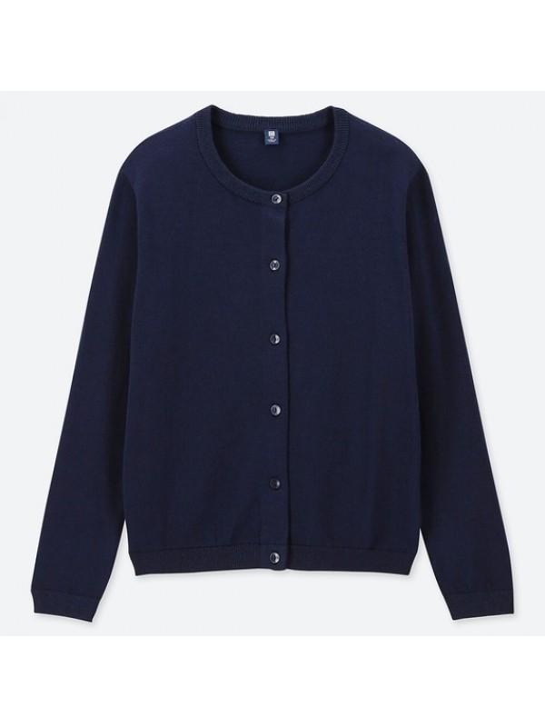 UNIQLO优衣库儿童防晒毛衣开衫深蓝色 size110 120 130