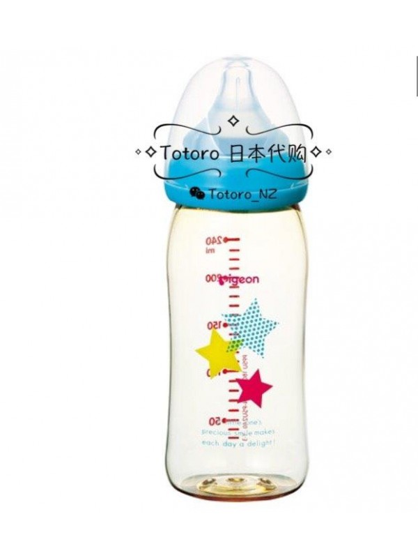 Pigeon Bottle star PPSU 贝亲母乳实感宽口塑料ppsu星星奶瓶3月+ 240ml