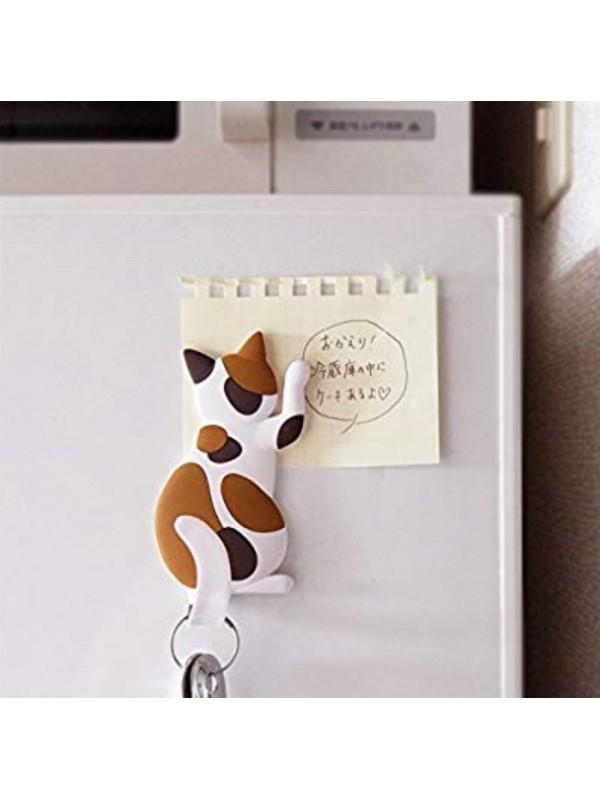 Magnet Hook Cat Tail 磁铁棕色花猫咪挂钩
