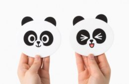 Line Friend Pangyo Coaster 熊猫双面杯垫