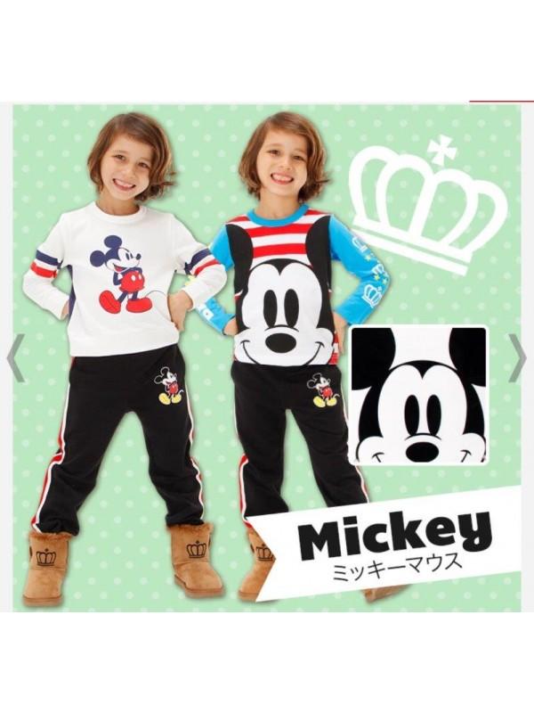 Micky Mouse 米奇儿童睡衣/家居服套装 三件套 size 80 140