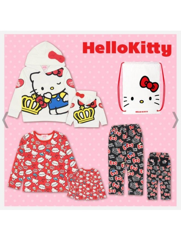 Hello Kitty 凯蒂猫儿童睡衣/家居服套装 三件套 size 80