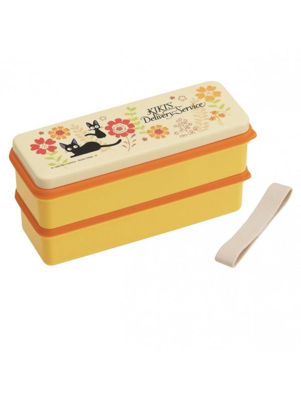 Kiki's Delivery Service Yellow魔女宅急便单双层两用便当盒 黄色(带餐具)
